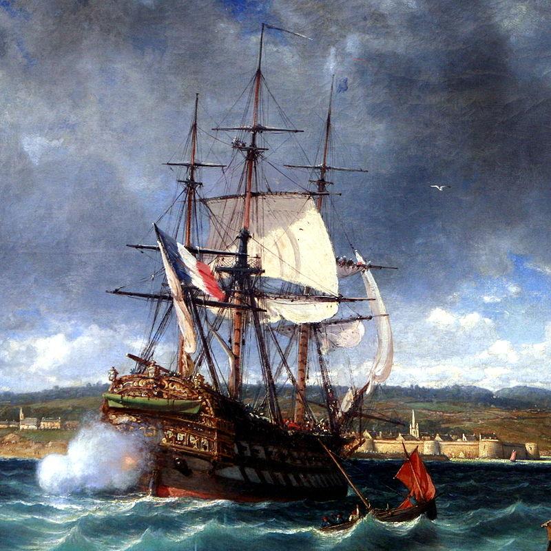 Sous le feu des vaisseaux britanniques, le Vétéran entre en baie de Concarneau grâce au matelot Furic.