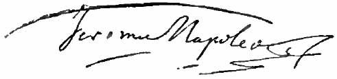 Signature Jérôme Bonaparte