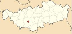 Auberge du Roy d'Espagne - situation sur la carte du Brabant Wallon