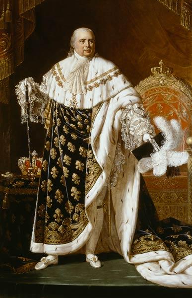 Louis XVIII en costume de sacre