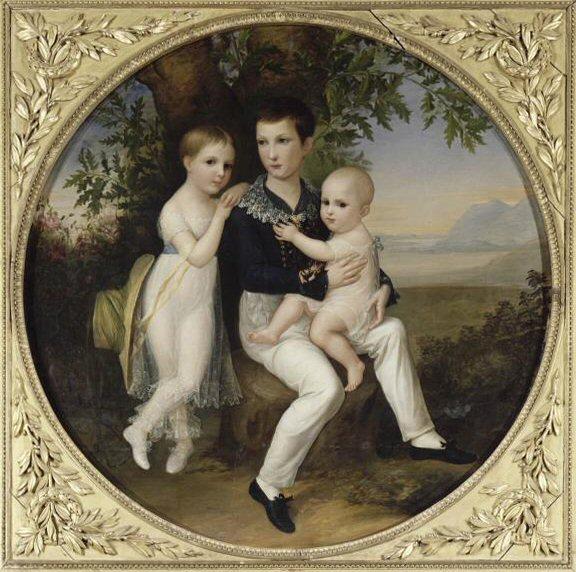 Les Enfants de Jérôme Bonaparte, de Michel Ghislain Stapleaux, Musée Fesch à Ajaccio