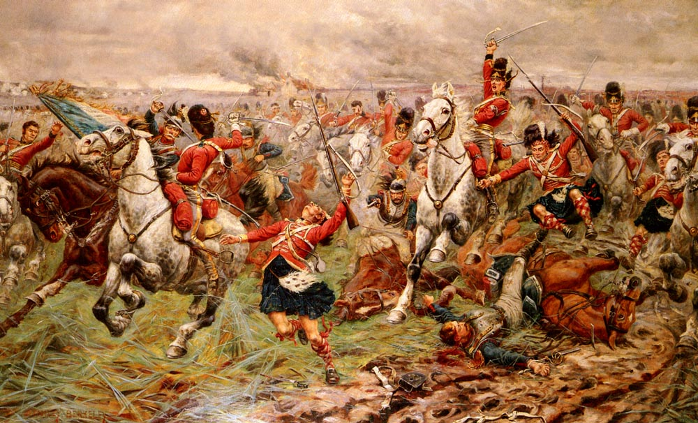 La charge des Scots Greys.