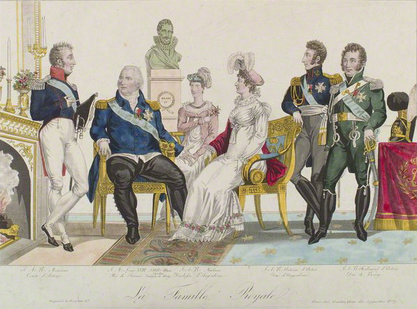 Louis XVIII, deux ans avant sa mort, par Gautier.